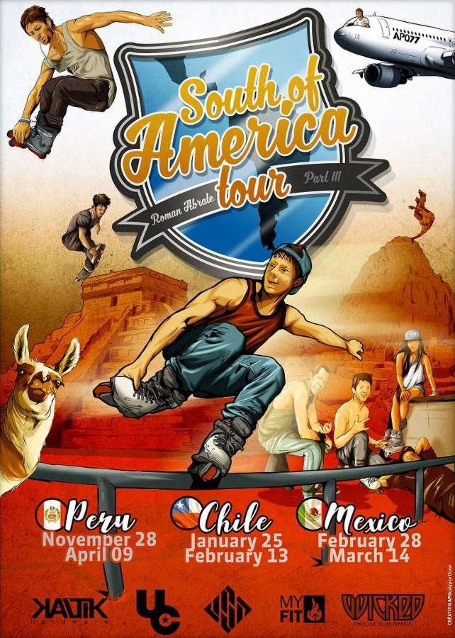 Roman Abrate - South of America Tour (2017-2018) - Flyer
