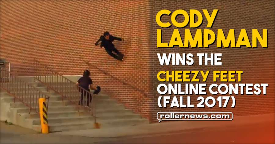 Cody Lampman wins the Cheezy Feet Online Contest (Winter 2017)