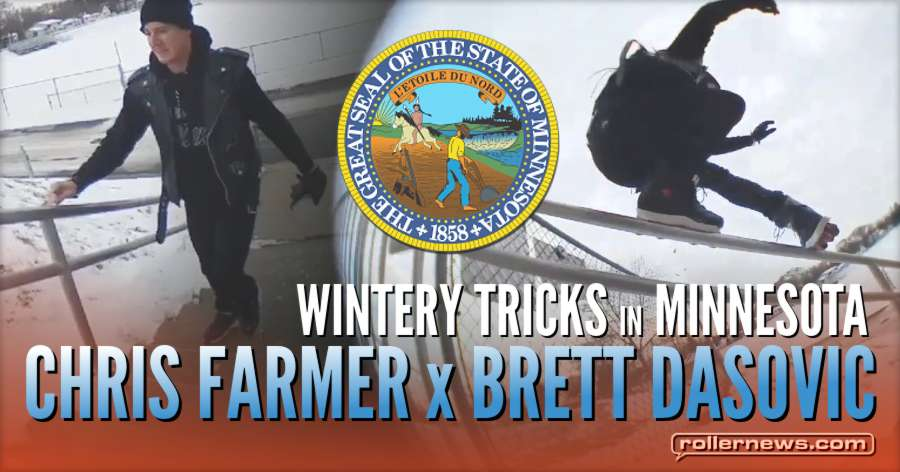 Clips of the day: Wintery Tricks - Chris Farmer & Brett Dasovic (Minnesota, 2018)