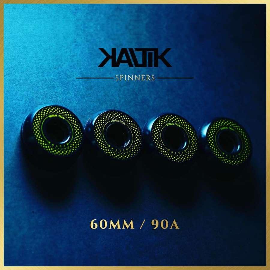 Kaltik Spinners: 60MM / 90A - Zeotrope logo by Kevin McGloughlin