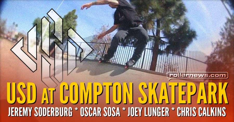 USD at Compton Skatepark (2018) with Jeremy Soderburg, Oscar Sosa, Joey Lunger & Chris Calkins