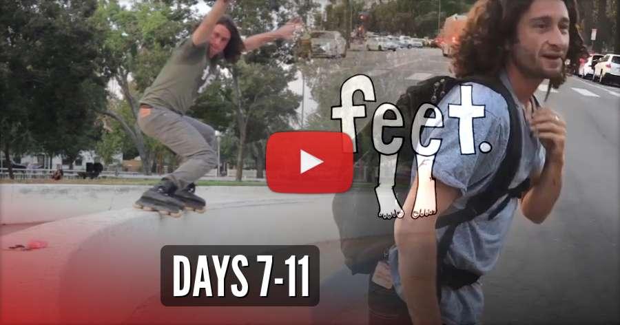 Feet Blading - 30 Day Blade Challenge (2018) with Lonnie Gallegos & Friends