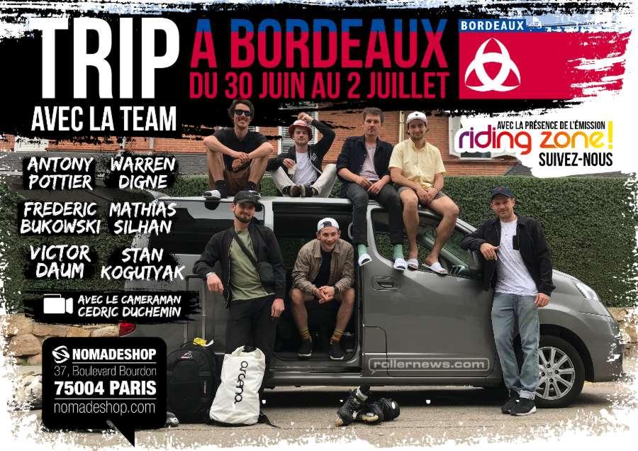 Nomades Tour - Bordeaux France: June 20 - July 2, 2018 - Flyer