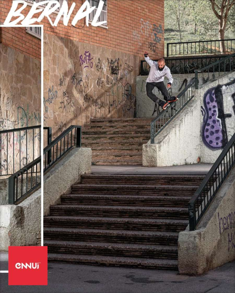 Carlos Bernal - Sweatstance to Wallride 180 over the next rail (2021) Picture of the day, by Ennui