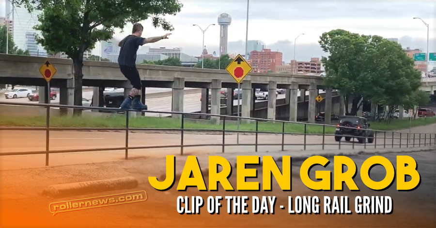 Clip of the day: Jaren Grob - Long Rail Grind (2021)