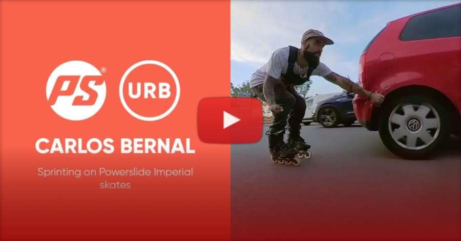 Carlos Bernal Sprinting on Powerslide Imperial Skates (June 2021) - Big Wheels