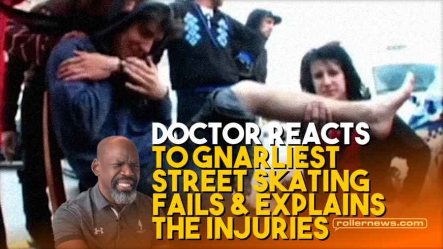 Doctor Reacts to Gnarliest Street Skating Fails Explains the Injuries Aggressive Inline Skating
