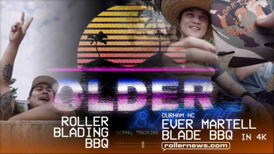Rollerblading BBQ in Durham NC (1st Ever) - Ever Martell Blade BBQ in 4k (2021) by Olderblading
