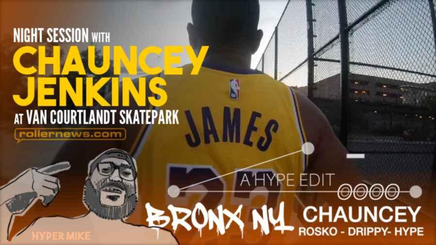 Night Sesh With Chauncey Jenkins @ Van Courtlandt Skate Park (2021) - Edit by Hyper Mike