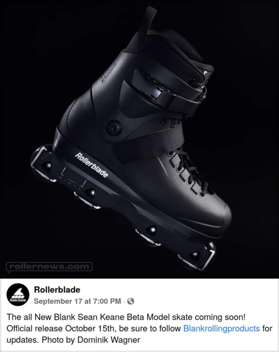 Blank Sean Keane Beta Model Skate Coming Soon - Official Rollerblade Post