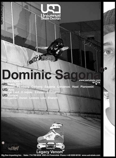 Dominic Sagona - USD (Universal Skate Design) Team 2005 - USD Legacy Venom Ad