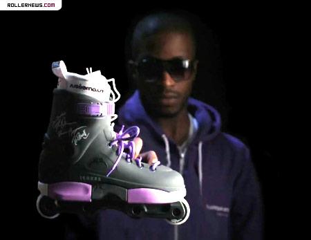 Purple Razors Skates