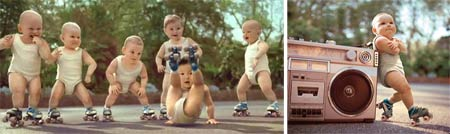 rollerskating evian ad